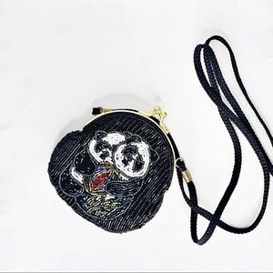 Vintage Exquisite Small Beaded Panda clutch 2/$50